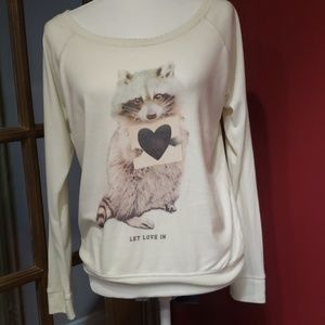 American Eagle racoon sweater